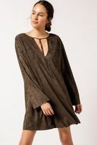 Azalea L/S Suede Swing Dress