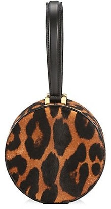 Marc Jacobs Small The Hat Box Leopard-Print Calf Hair Leather Bag