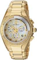 Technomarine Women's Gold-Tone Steel Bracelet & Case Quartz White Dial Analog Watch 215032