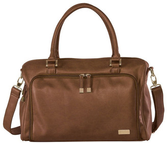 Isoki Double Zip Satchel Nappy Bag Brown