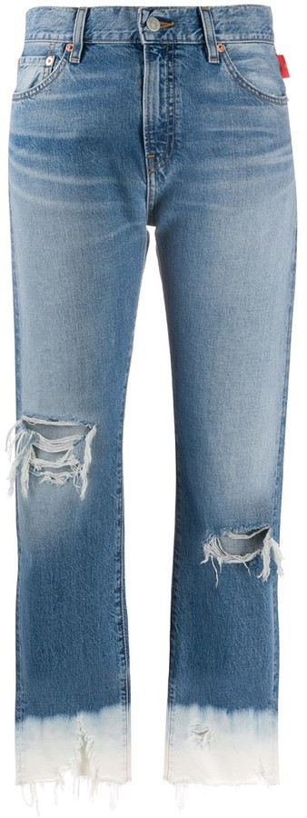 Denimist Mid-Rise Cropped Jeans