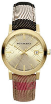 Burberry Stainless Steel & Check Strap Watch