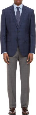 HUGO BOSS Plaid Two-Button Sportcoat