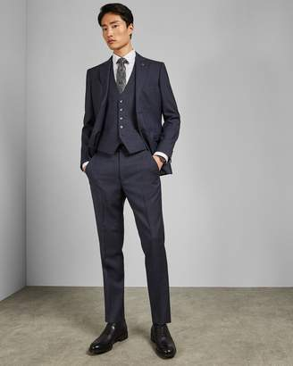 Ted Baker Debonair Subtle Check Wool Waistcoat