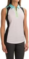Bette & Court Vibe Zip Neck Tank Top - UPF 50 (For Women)