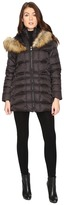 Betsey Johnson Quilted Fur Hooded Coat