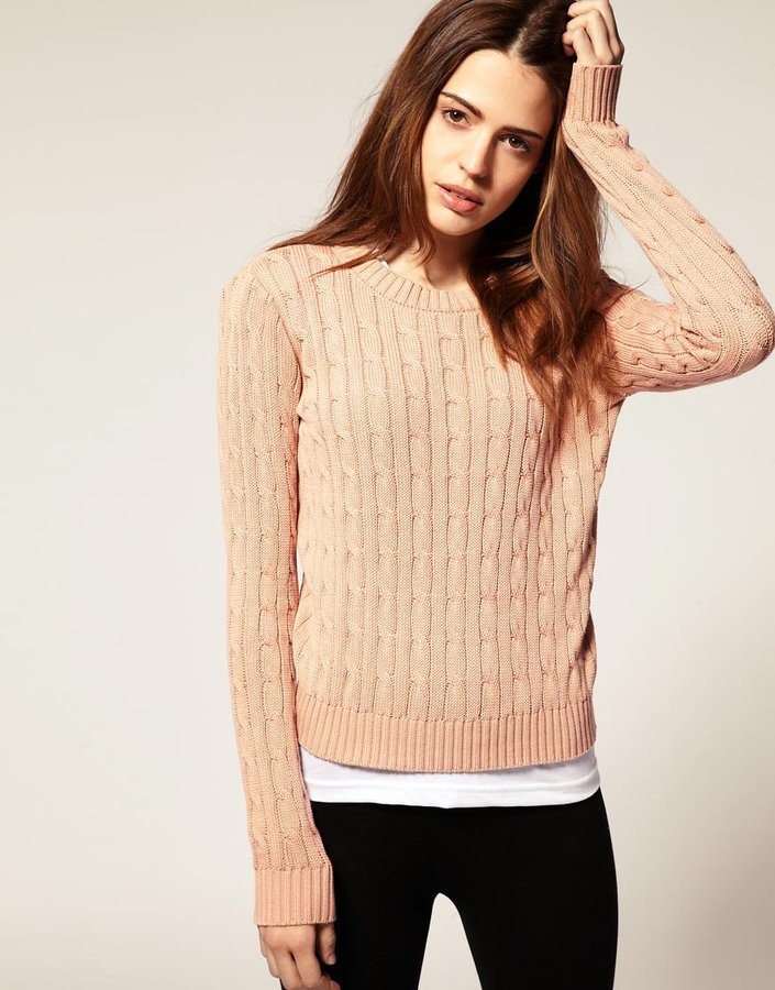 American Apparel Cable Knit Sweater