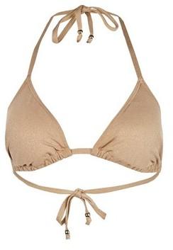 Dorothy Perkins Womens Dp Beach Gold Beaded Bikini Top, Gold
