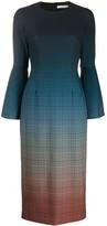 Mary Katrantzou ombre check print dress