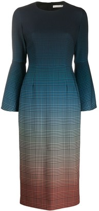 Mary Katrantzou Ombre Check Print Dress