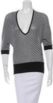 Balenciaga Striped Wool Top