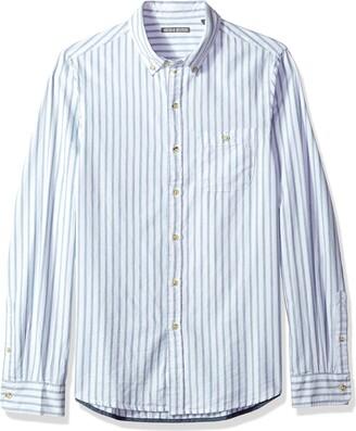 Michael Bastian Men's Long Sleeve Vertical Stripe Oxford Woven Shirt