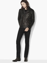 John Varvatos Asymmetrical Leather Biker Jacket