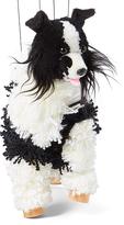 Black & White Border Collie Puppet