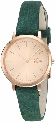 Lacoste Women's Moon Small Stainless Steel Quartz Watch with Leather Strap Green 12 (Model: 2001050)