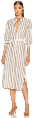 Nili Lotan Malia Dress in Natural & Black Stripe | FWRD