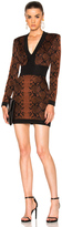 Balmain Snake Print Mini Dress