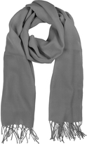 Mila Schon Gray Wool and Cashmere Stole