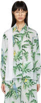 Stella McCartney Blue Silk Palm Shirt
