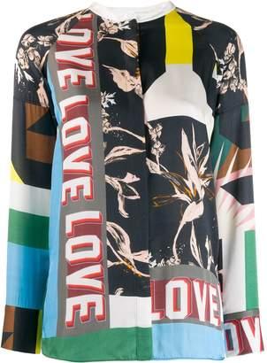 Schumacher Dorothee patch-work print blouse