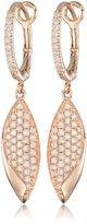 "KC Designs Metro"" 14k Rose Gold and Diamond Leaf Earrings"