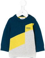 HUGO BOSS logo jacquard knit jumper