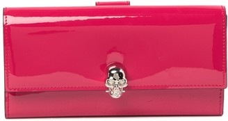 Alexander McQueen Continent Patent Leather Skull Wallet