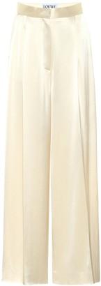 Loewe High-rise wide-leg satin pants