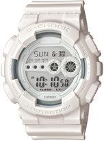 G-Shock Men's Digital Whiteout White Strap Watch 55x51mm GD100WW-7S