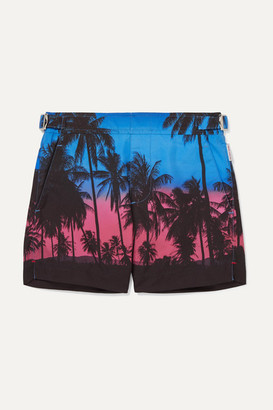 Orlebar Brown Kids - Russell Printed Swim Shorts - Blue