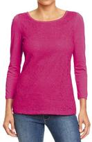 Old Navy Women's Crochet-Lace Trim Tees