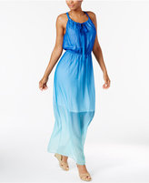 NY Collection Petite Ombré Halter Maxi Dress