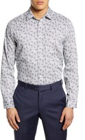 Ted Baker Modern Fit Floral Dress Shirt