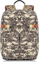 Binlion Camo Laptop backpack and Student backpack(Brawn)