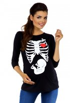 Zeta Ville Fashion Zeta Ville - Womens Maternity T-shirt Top Funny Print X-Ray Rib Cage Baby 615c