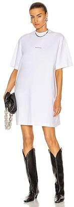 Acne Studios Oversized T-Shirt Dress in White