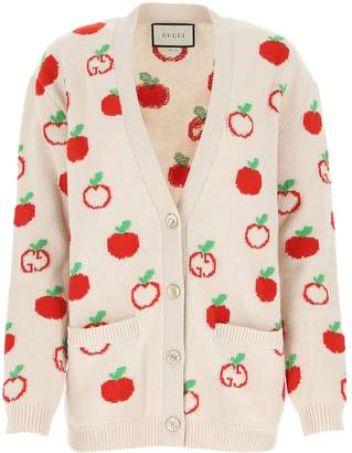 Gucci Cherry Embroidered Cardigan