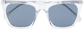 One, All, Every X Rvs Sustain X Ugo Rondinone Transparent Wayfarer Sunglasses