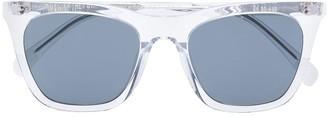 One, All, Every X RVS Sustain X Ugo Rondinone Transparent Wayfarer Sunglasses