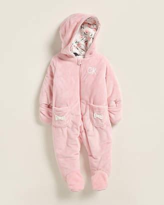 Calvin Klein Jeans Newborn Girls) Pink Hooded Sherpa Pram