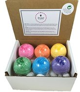 Kids Fizzing BUBBLE Bath Bombs with Toy Surprises Inside(Girl Rainbow Colors) - Set of 6 - Stain Free - Kid Safe - Made in the USA - (Girl)