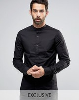 ONLY & SONS Skinny Shirt With Grandad Collar