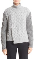 Stella McCartney Women's Mixed Media Turtleneck Sweater