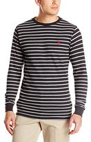 U.S. Polo Assn. Men's Long Sleeve Striped Crew Neck Thermal Pullover