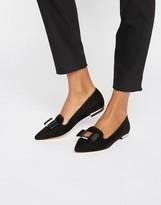 Carvela Bow Trim Slipper Loafers