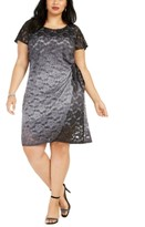 Robbie Bee Plus Size Side-Tie Lace Dress