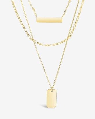 Express Sterling Forever Layered Bar Necklaces