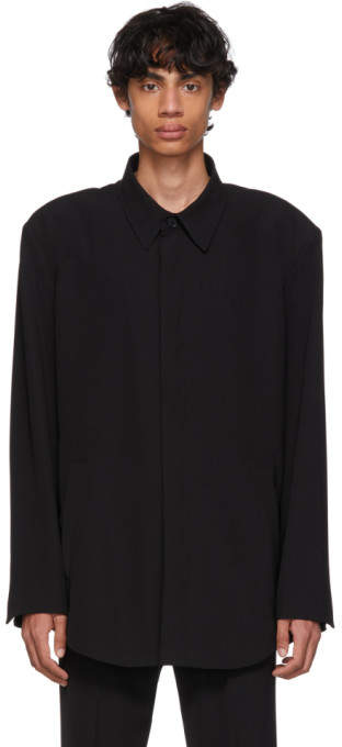 Balenciaga Black Fluid Tailored Jacket