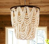 Pottery Barn Amelia Indoor/Outdoor Wood Bead Chandelier