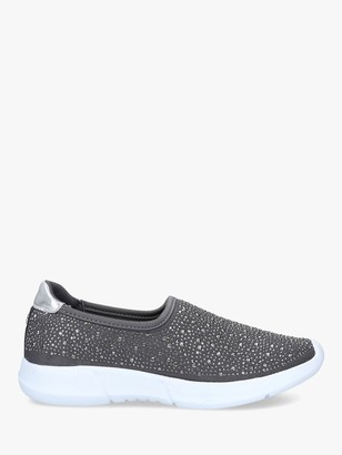 Carvela Comfort Carla Metallic Embellished Slip On Trainers